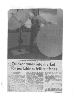 Trucker tunes into market for portable satellite dishes