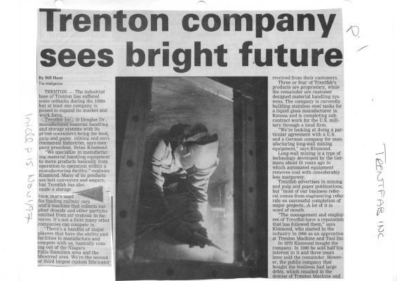 Trenton company sees bright future