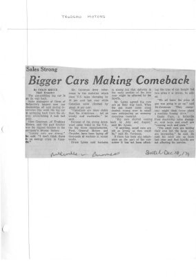 Bigger cars making comeback
