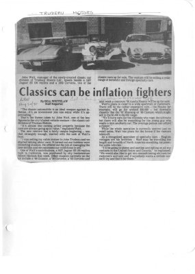 Classics can be inflation fighters