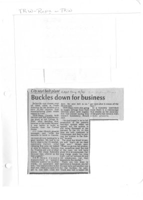 Buckles down for business