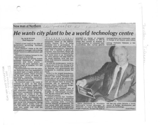 He wants city plant to be a world technology centre