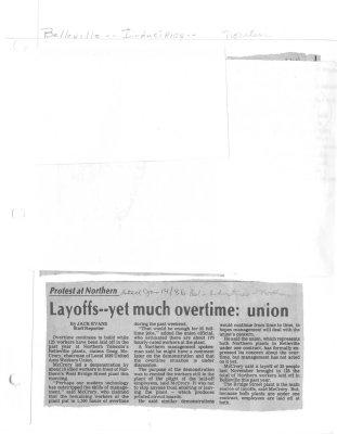 Layoffs -- yet much overtime: union