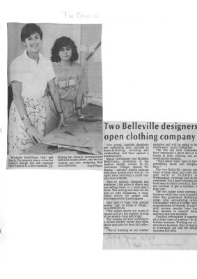 Two Belleville designers open clothing company