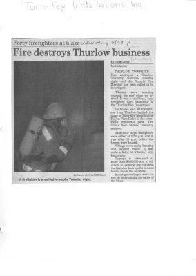 Fire destroys Thurlow business