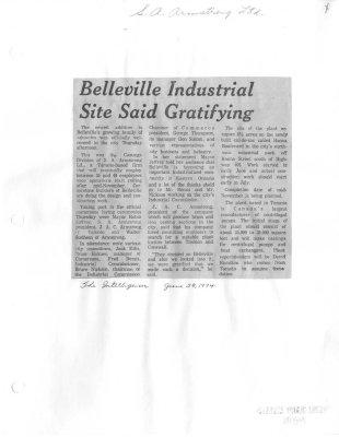 Belleville Industrial Site Said Gratifying