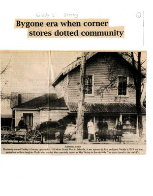 Bygone era when corner stores dotted community