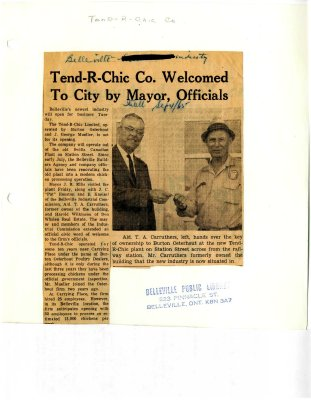 Tend-R-Chic Co. Welcomed to City by Mayor, Officials