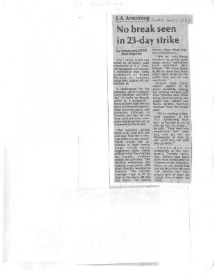 No break seen in 23-day strike