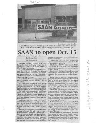 SAAN to open Oct. 15