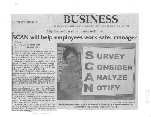 SCAN will help employees work safe: manager
