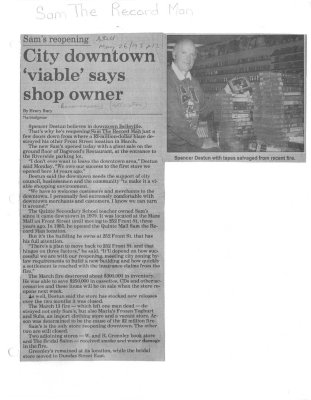 City downtown 'viable' says shop owner