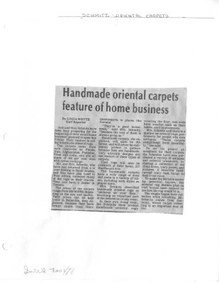 Handmade oriental carpets feature of home business