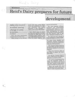 Reid's Dairy prepares for future development