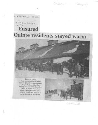 Ensured Quinte residents stayed warm
