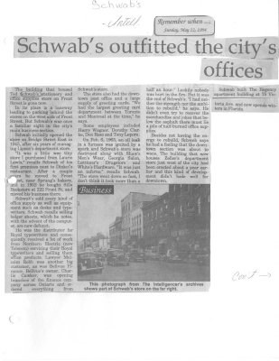 Schwab's outfitted the city's offices