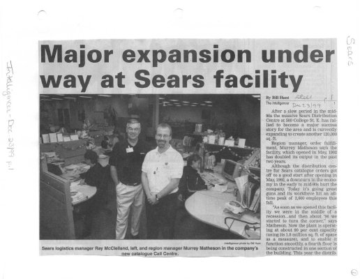 Major expansion under way at Sears facility