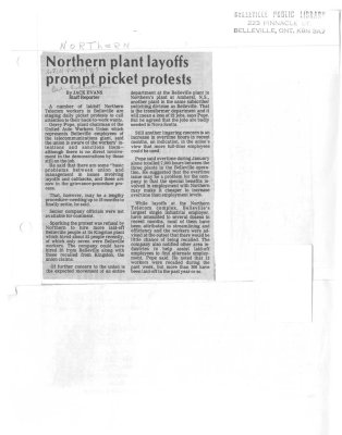 Northern plant layoffs prompt picket protests