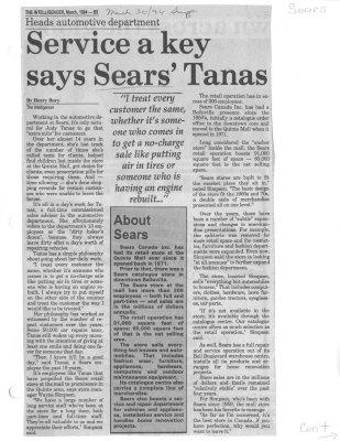 Service a key says Sears' Tanas