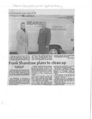 Frank Shandraw plans to clean up