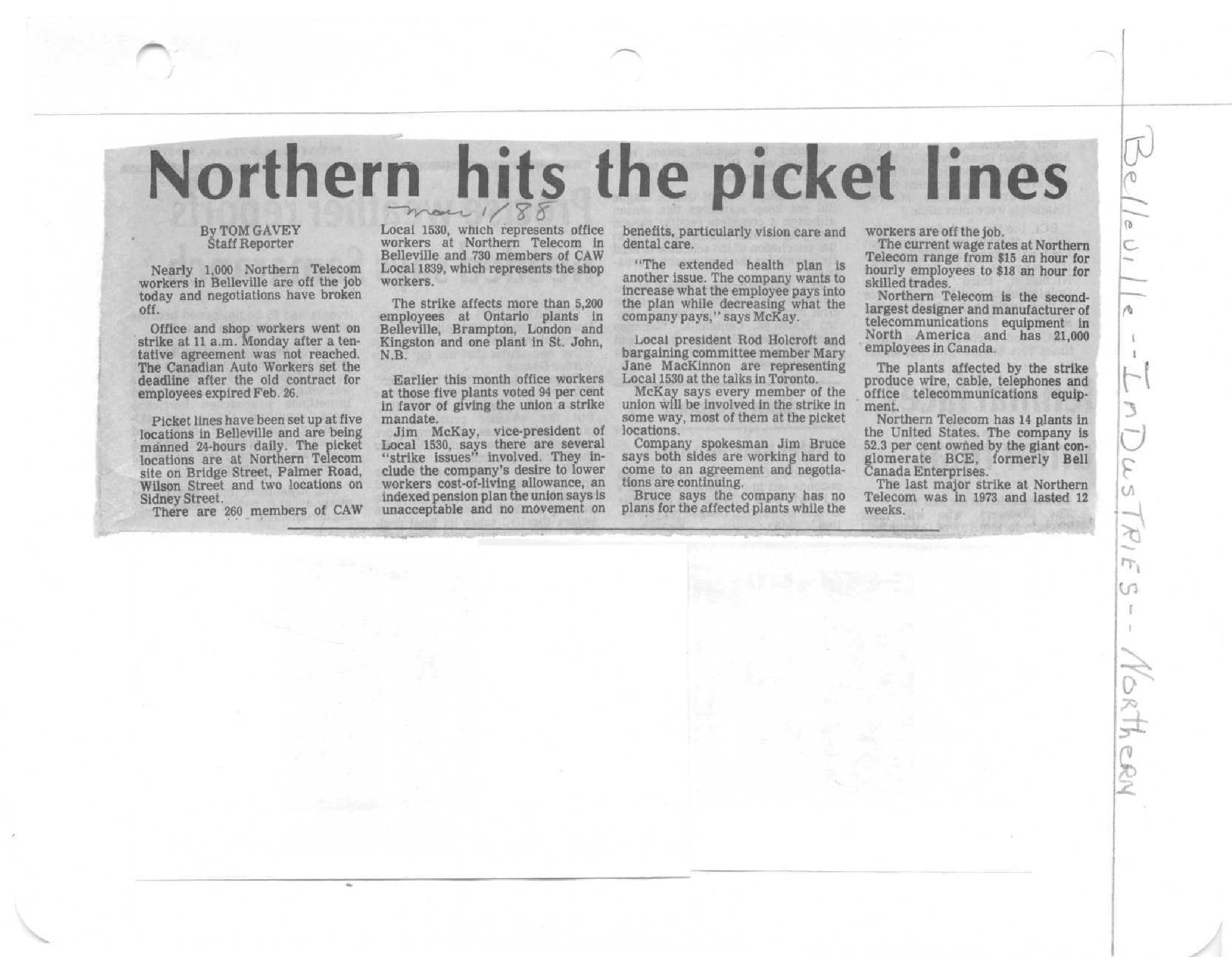 Northern hits the picket lines