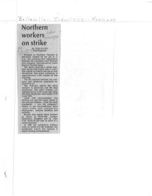Northern workers on strike