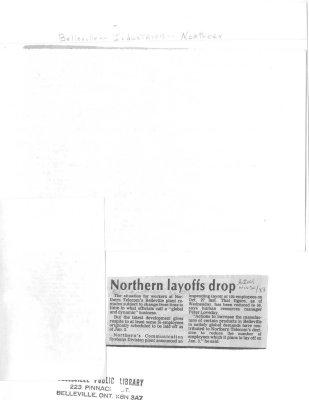 Northern layoffs drop