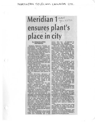 Meridian 1 ensures plant's place in city