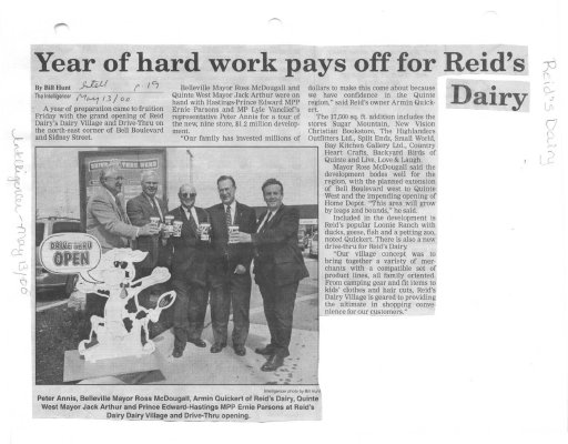 Year of hard work pays off for Reid's Dairy