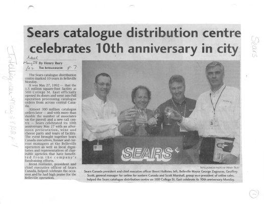 Sears catalogue distribution centre celebrates 10th anniversary in city