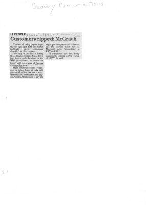 Customers ripped: McGrath