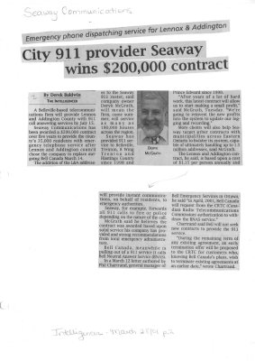 City 911 provider Seaway wins $200,000 contract
