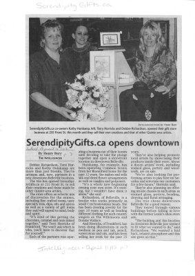 SerendipityGifts.ca opens downtown