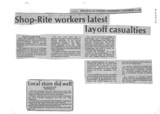 Shop-Rite workers latest layoff casualties