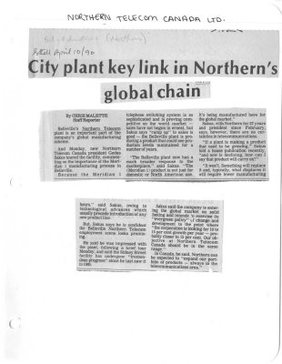 City plant key link in Northern's global chain