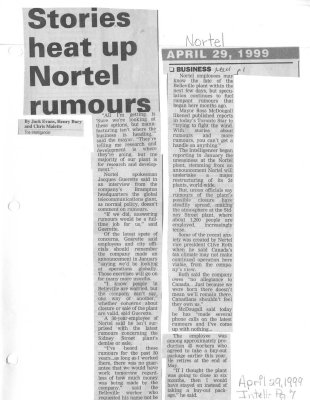 Stories heat up Nortel rumours