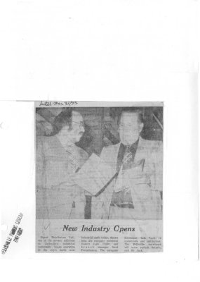 New Industry Opens