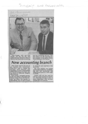 New accounting branch