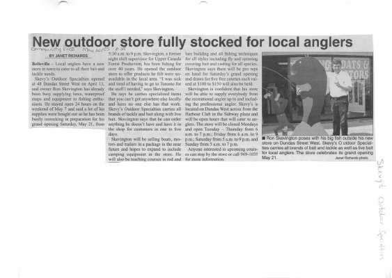 New outdoor store fully stocked for local anglers