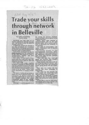 Trade your skills through network in Belleville