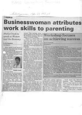 Businesswoman attributes work skills to parenting