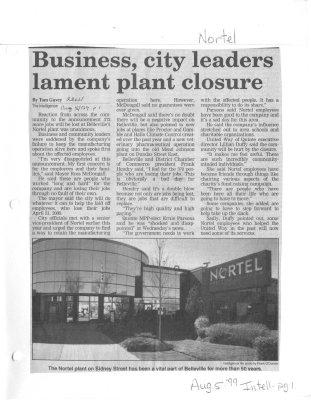 Business, city leaders lament plant closure