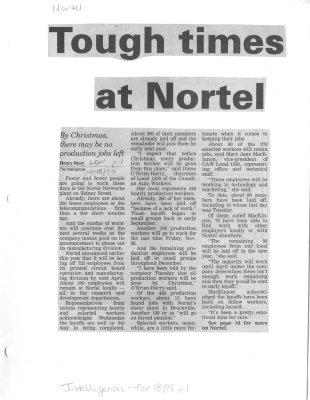 Tough time at Nortel