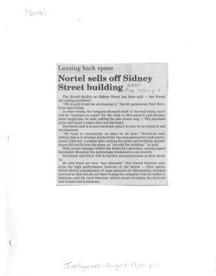 Nortel sells off Sidney Street building