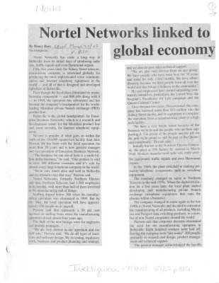Nortel Networks linked to global economy