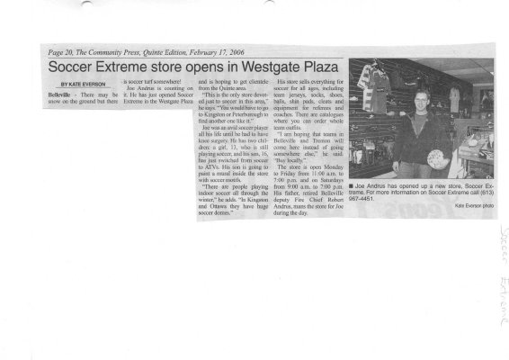 Soccer Extreme store opens in Westgate Plaza