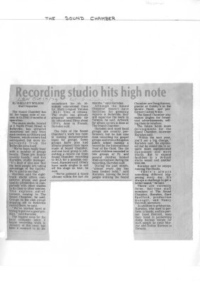 Recording studio hits high note