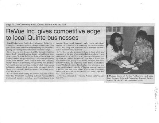 ReVue Inc. gives competitive edge to local Quinte businesses