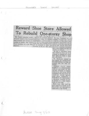 Reward Shoe Store Allowed To Rebuild One-storey Shop