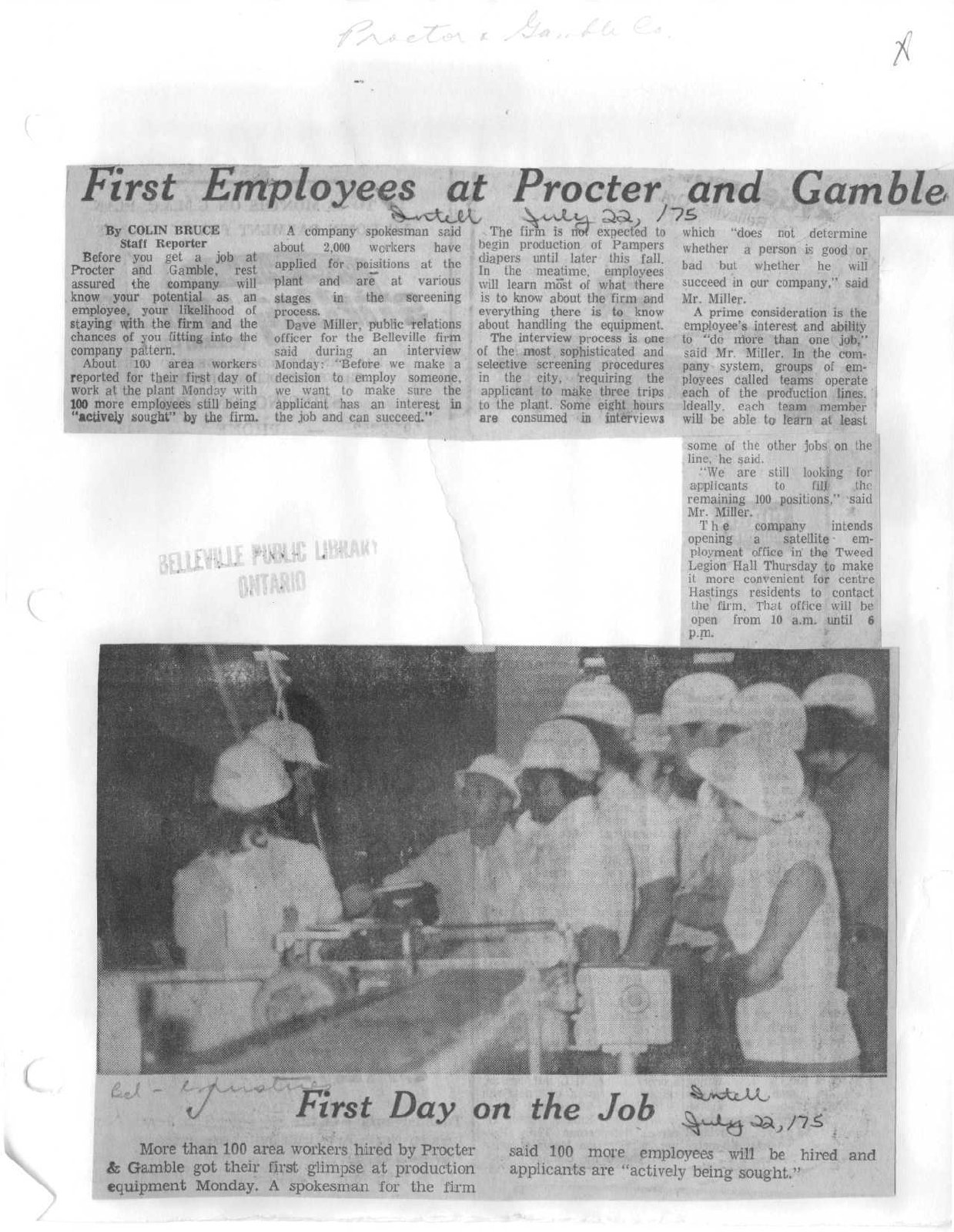 First Employees at Procter and Gamble